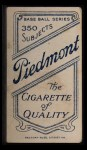 1909 T206 #172 POR Lou Fiene  Back Thumbnail