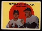 1959 Topps #383  Words of Wisdom  -  Casey Stengel / Don Larson Front Thumbnail