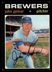 1971 Topps #604   John Gelnar Front Thumbnail