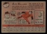 1958 Topps #3   Alex Kellner Back Thumbnail