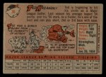 1958 Topps #36  Ted Kazanski  Back Thumbnail