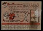 1958 Topps #465   Arnie Portocarrero Back Thumbnail