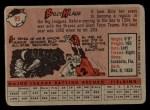 1958 Topps #89   Billy Klaus Back Thumbnail