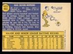 1970 Topps #483  Gail Hopkins  Back Thumbnail