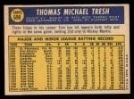 1970 Topps #698  Tom Tresh  Back Thumbnail