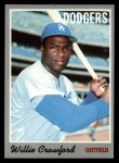 1970 Topps #34   Willie Crawford Front Thumbnail