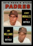 1970 Topps #262  Padres Rookie Stars  -  Jerry Morales / Jim Williams Front Thumbnail