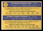 1970 Topps #131  Dodgers Rookie Stars  -  Ray Lamb / Bob Stinson Back Thumbnail