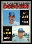 1970 Topps #131  Dodgers Rookie Stars  -  Ray Lamb / Bob Stinson Front Thumbnail