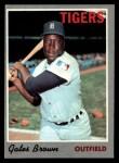 1970 Topps #98   Gates Brown Front Thumbnail