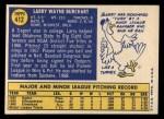 1970 Topps #412   Larry Burchart Back Thumbnail