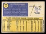 1970 Topps #12   John Hiller Back Thumbnail