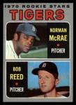 1970 Topps #207  Tigers Rookies  -  Norman McRae / Bob Reed Front Thumbnail
