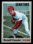 1970 Topps #106   Darold Knowles Front Thumbnail