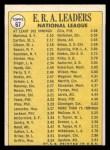 1970 Topps #67  NL ERA Leaders  -  Steve Carlton / Bob Gibson / Juan Marichal Back Thumbnail
