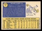 1970 Topps #11  Nate Colbert  Back Thumbnail