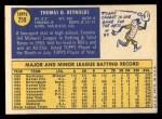 1970 Topps #259  Tommie Reynolds  Back Thumbnail