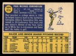 1970 Topps #414   Paul Edmondson Back Thumbnail