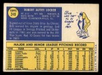 1970 Topps #249  Bob Locker  Back Thumbnail