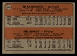 1972 Topps #524   -  Ed Ambrister / Mel Behney Reds Rookies   Back Thumbnail
