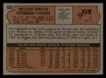 1972 Topps #605   Nelson Briles Back Thumbnail