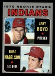 1970 Topps #7  Indians Rookie Stars  -  Gary Boyd / Russ Nagelson Front Thumbnail