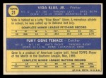 1970 Topps #21  Athletics Rookies  -  Gene Tenace / Vida Blue Back Thumbnail