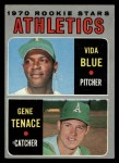 1970 Topps #21  Athletics Rookies  -  Gene Tenace / Vida Blue Front Thumbnail