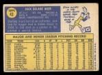 1970 Topps #43   Jack Aker Back Thumbnail