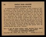 1941 Gum Inc. Uncle Sam Home Defense #59  Submarine Battle Drill  Back Thumbnail