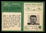 1966 Philadelphia #28   Doug Atkins Back Thumbnail
