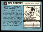 1964 Topps #3  Nick Buoniconti  Back Thumbnail