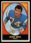 1967 Topps #125  Ron Mix  Front Thumbnail