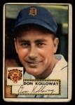 1952 Topps #104   Don Kolloway Front Thumbnail