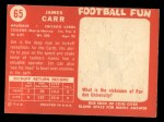 1958 Topps #65  Jimmy Carr  Back Thumbnail