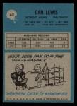 1964 Philadelphia #63   Dan Lewis  Back Thumbnail