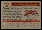 1956 Topps #83   Bill McColl Back Thumbnail