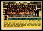 1956 Topps #61   Redskins Team Front Thumbnail