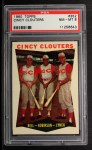 1960 Topps #352  Cincy Clouters  -  Gus Bell / Frank Robinson / Jerry Lynch Front Thumbnail