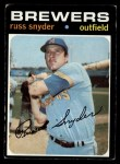 1971 Topps #653  Russ Snyder  Front Thumbnail