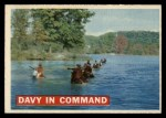 1956 Topps Davy Crockett #6 ORG  Davy In Command  Front Thumbnail