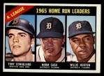 1966 Topps #218  AL HR Leaders  -  Norm Cash / Tony Conigliaro / Willie Horton Front Thumbnail