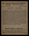 1939 Play Ball #25   George Selkirk Back Thumbnail