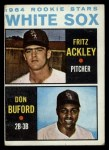 1964 Topps #368   White Sox Rookie Stars  -  Fritz Ackley / Don Buford Front Thumbnail