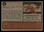 1962 Topps #28   Minnie Minoso Back Thumbnail