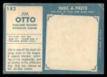 1961 Topps #182   Jim Otto Back Thumbnail