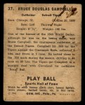 1941 Play Ball #37   Soupy Campbell Back Thumbnail