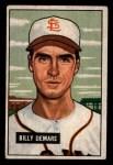 1951 Bowman #43  Billy DeMars  Front Thumbnail
