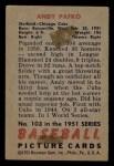 1951 Bowman #103  Andy Pafko  Back Thumbnail