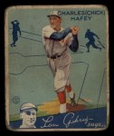 1934 Goudey #34   Chick Hafey Front Thumbnail